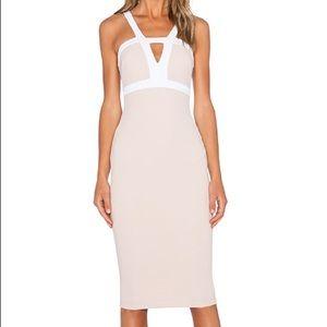 Seymour Bodycon Dress in Nude
